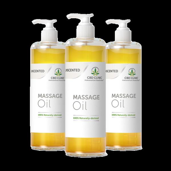 UNSCENTED: Massage Oil- 3 pack