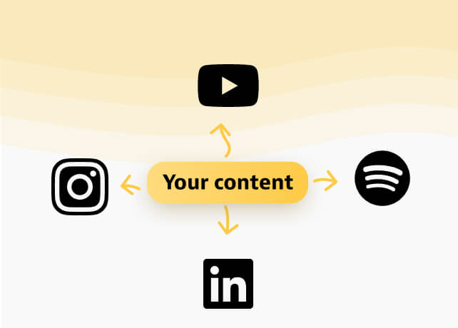 Youtube, LinkedIn, Instagram, Spotify
