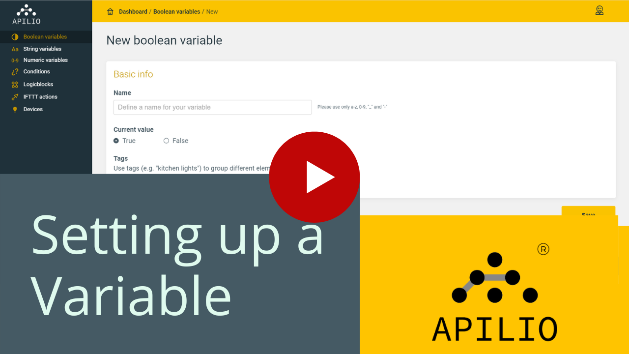 """Youtube thumbnail for the """"Setting up a variable"""" video"""