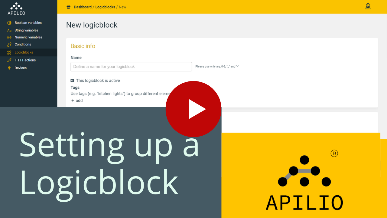 """Youtube thumbnail for the """"Setting up a Logicblock"""" video"""