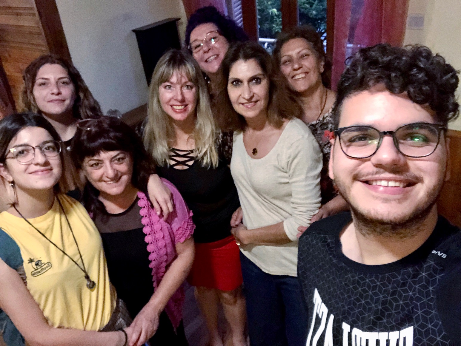A photo of the students from the Psychic development workshop at the tree of life center in Larnaca 2019