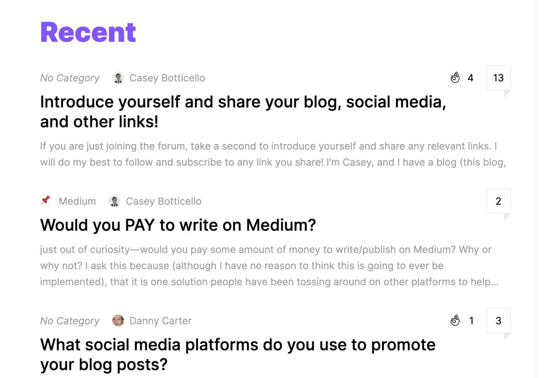 BloggingGuide community in PeerBoard