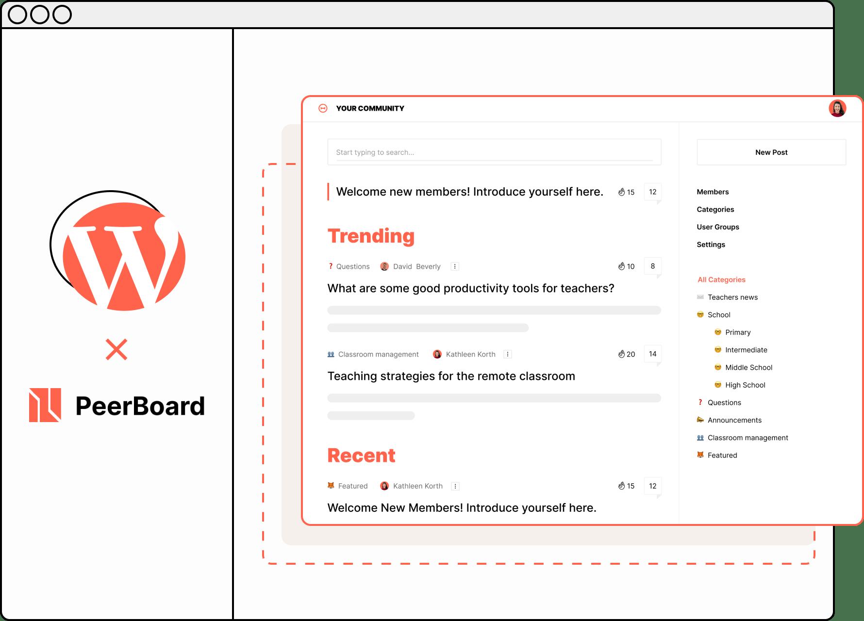 PeerBoard + WordPress Plugin