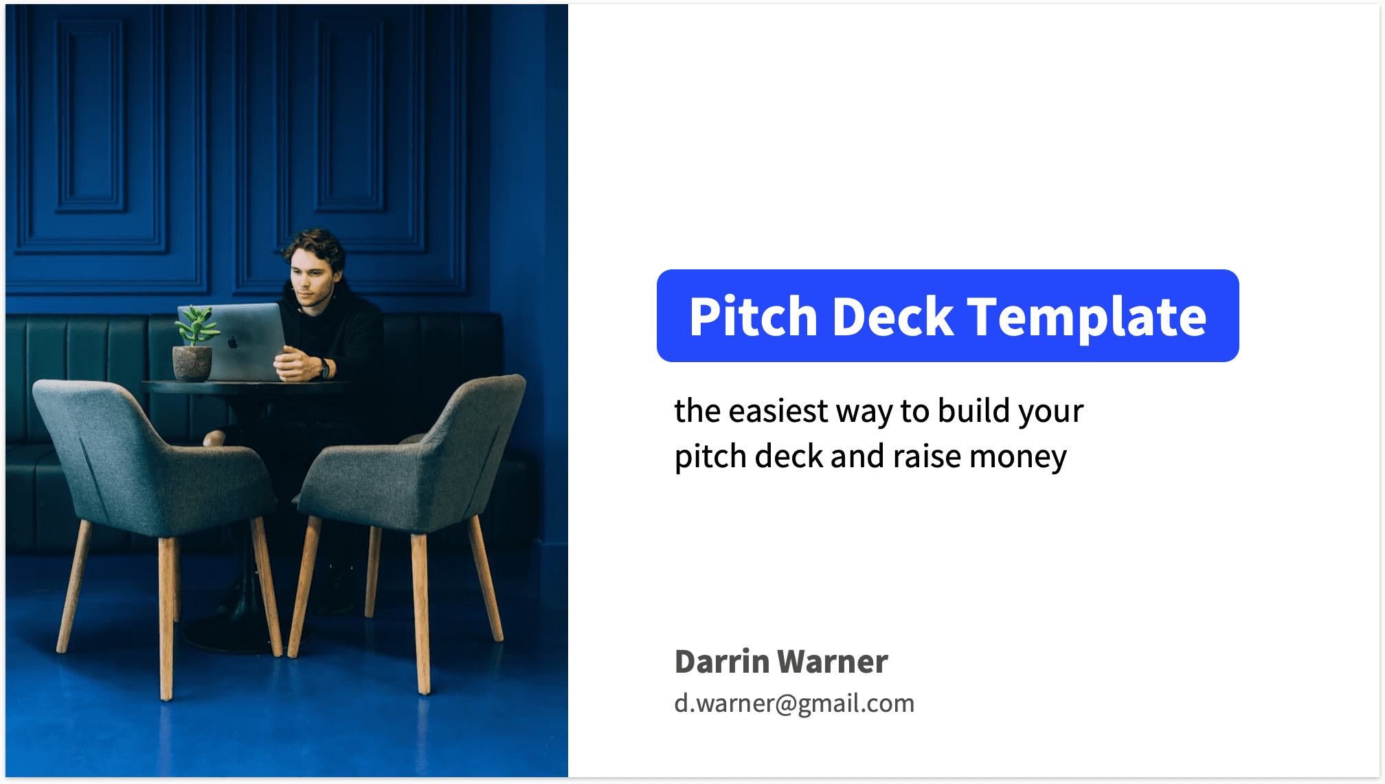 Pitch Deck Title Slide with Photo
