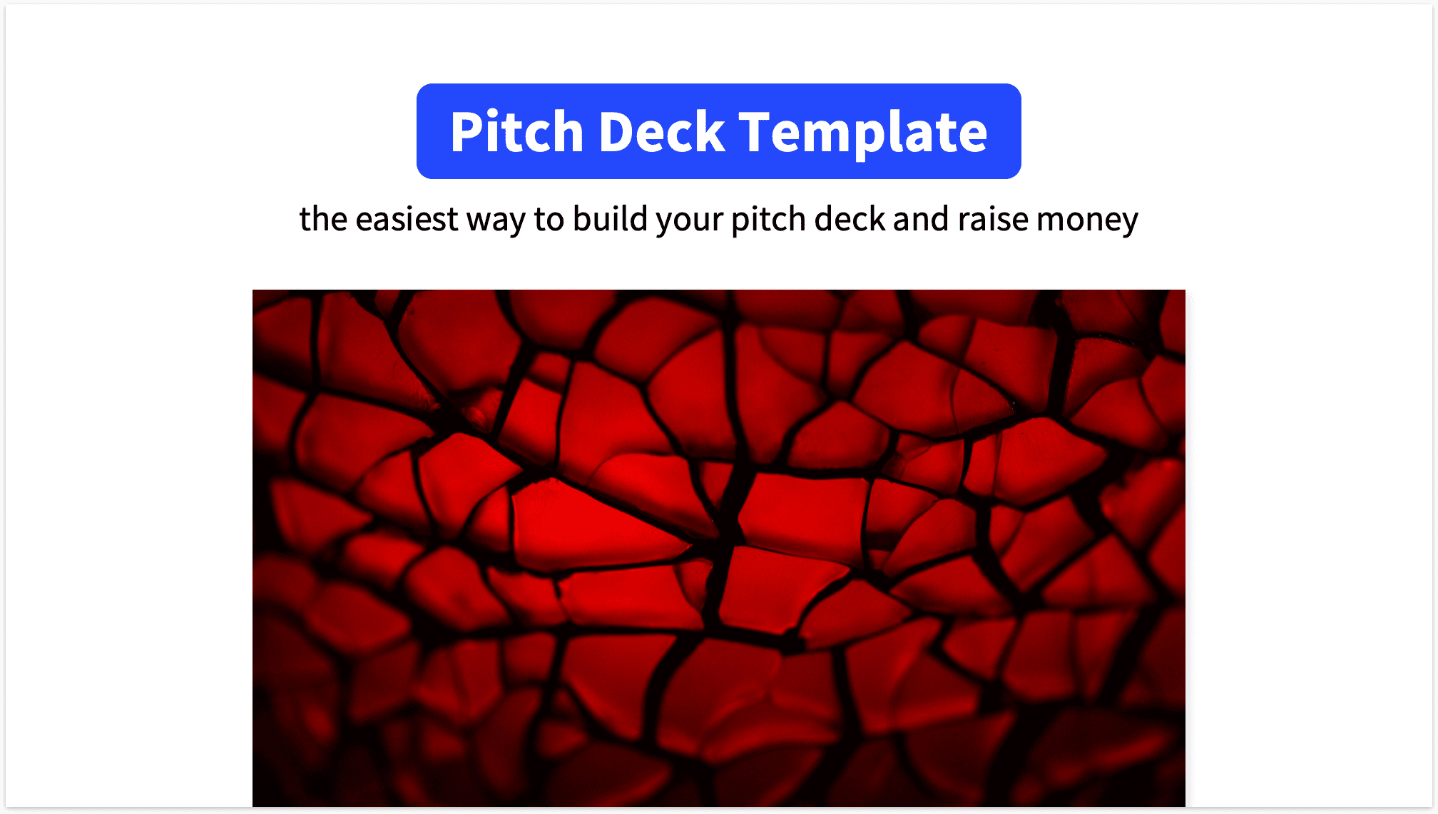 Pitch Deck Title Slide with Website Mockup