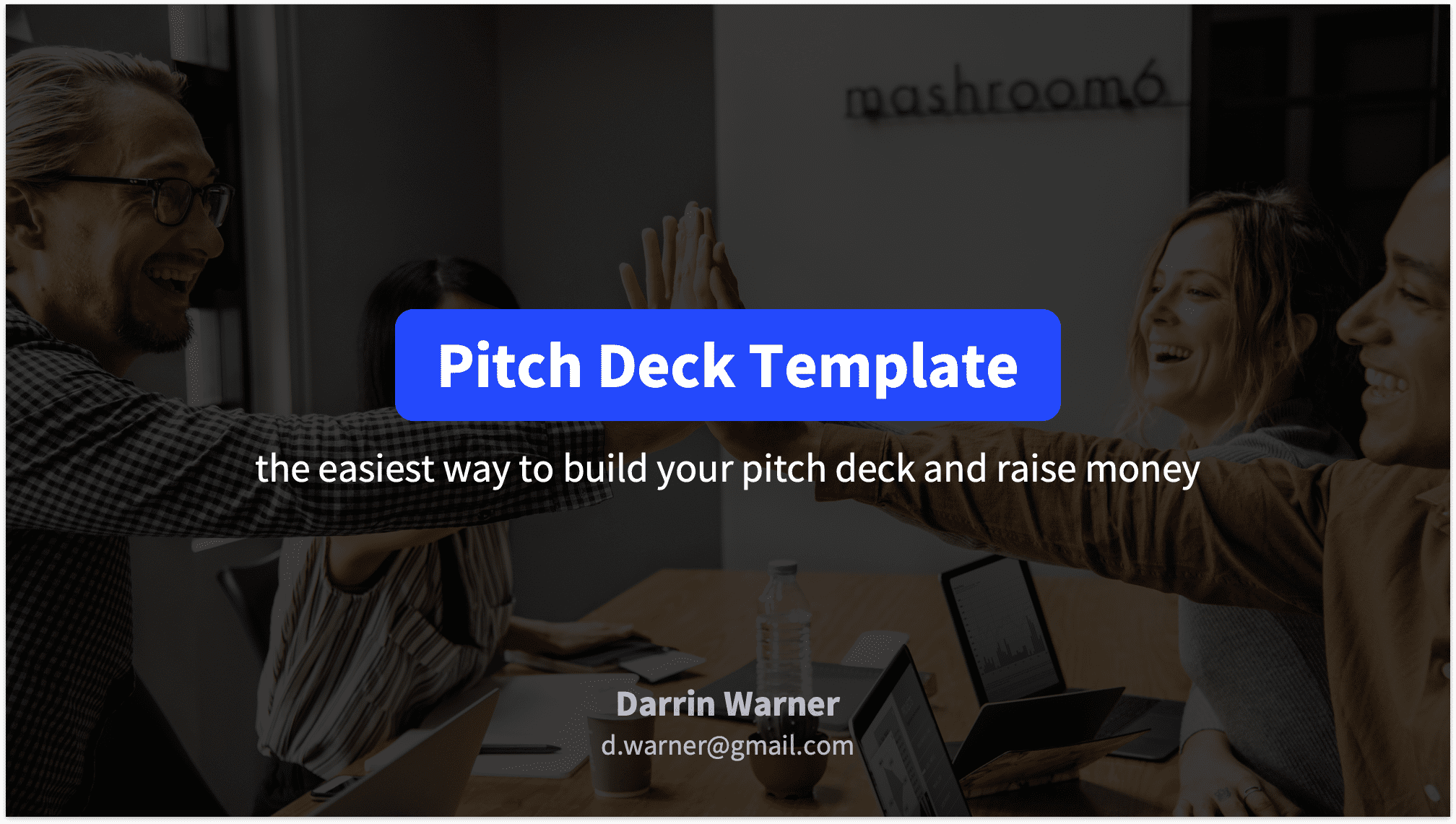 Pitch Deck Title Slide with Background Image