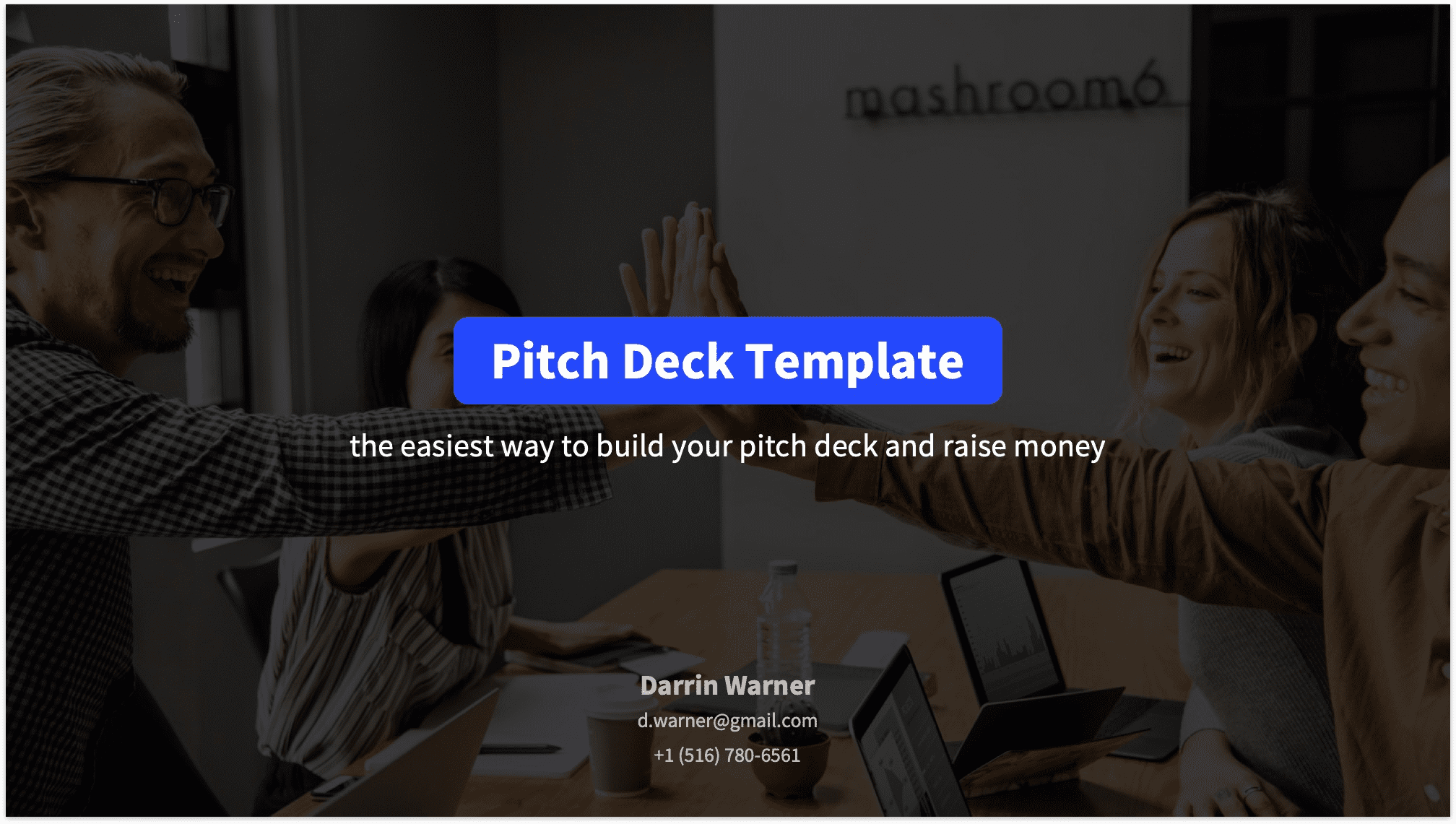 Pitch Deck Title Slide Reading Version with Background Image
