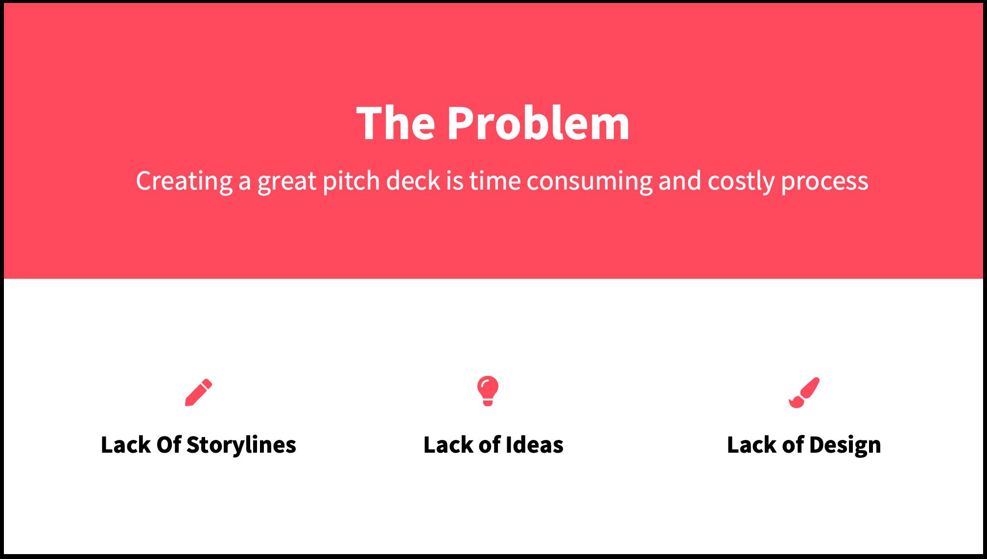 Problem Slide Pitch Deck