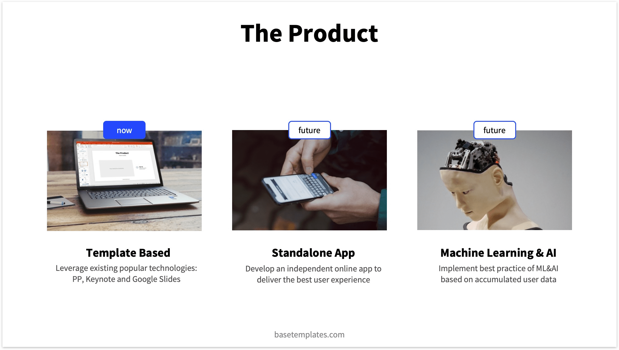 Pitch Deck Product Slide Example