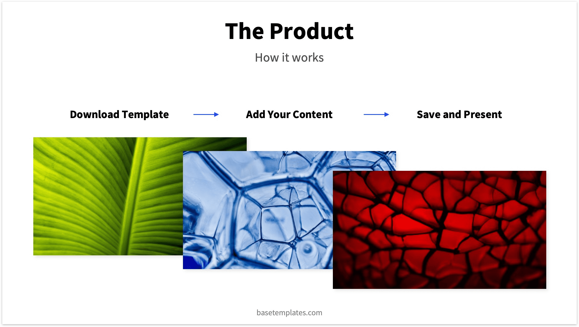 Pitch Deck Example Product Slide