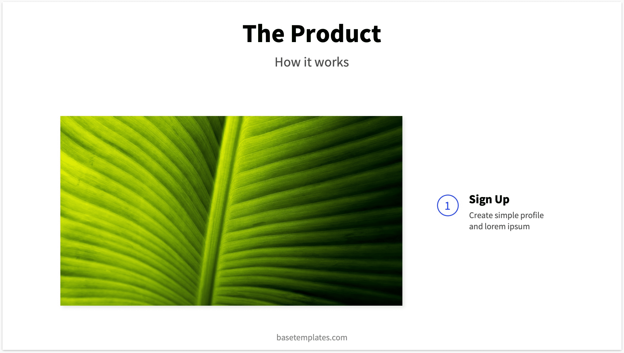 Example for Pitch Deck Product Slide
