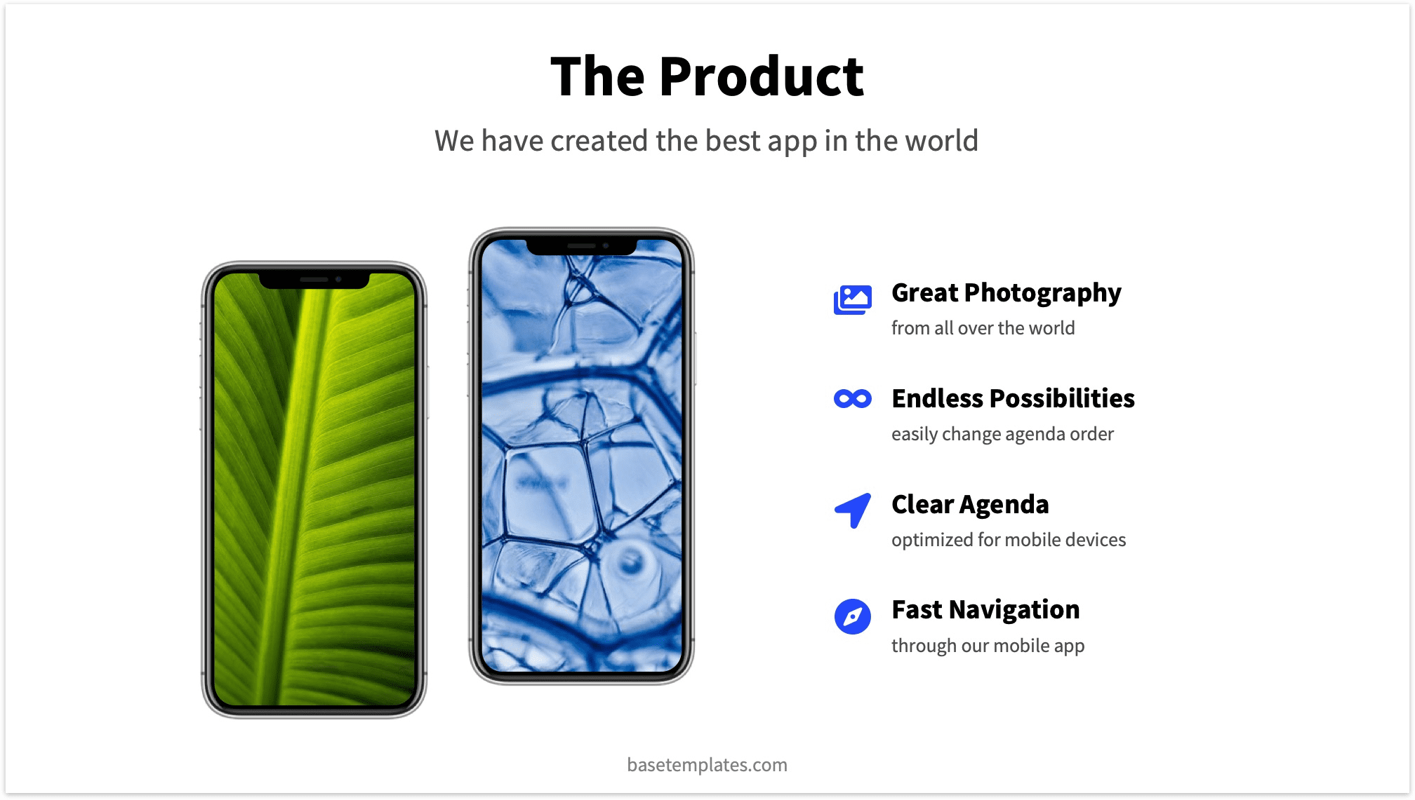 Startup Pitch Deck Product Slide