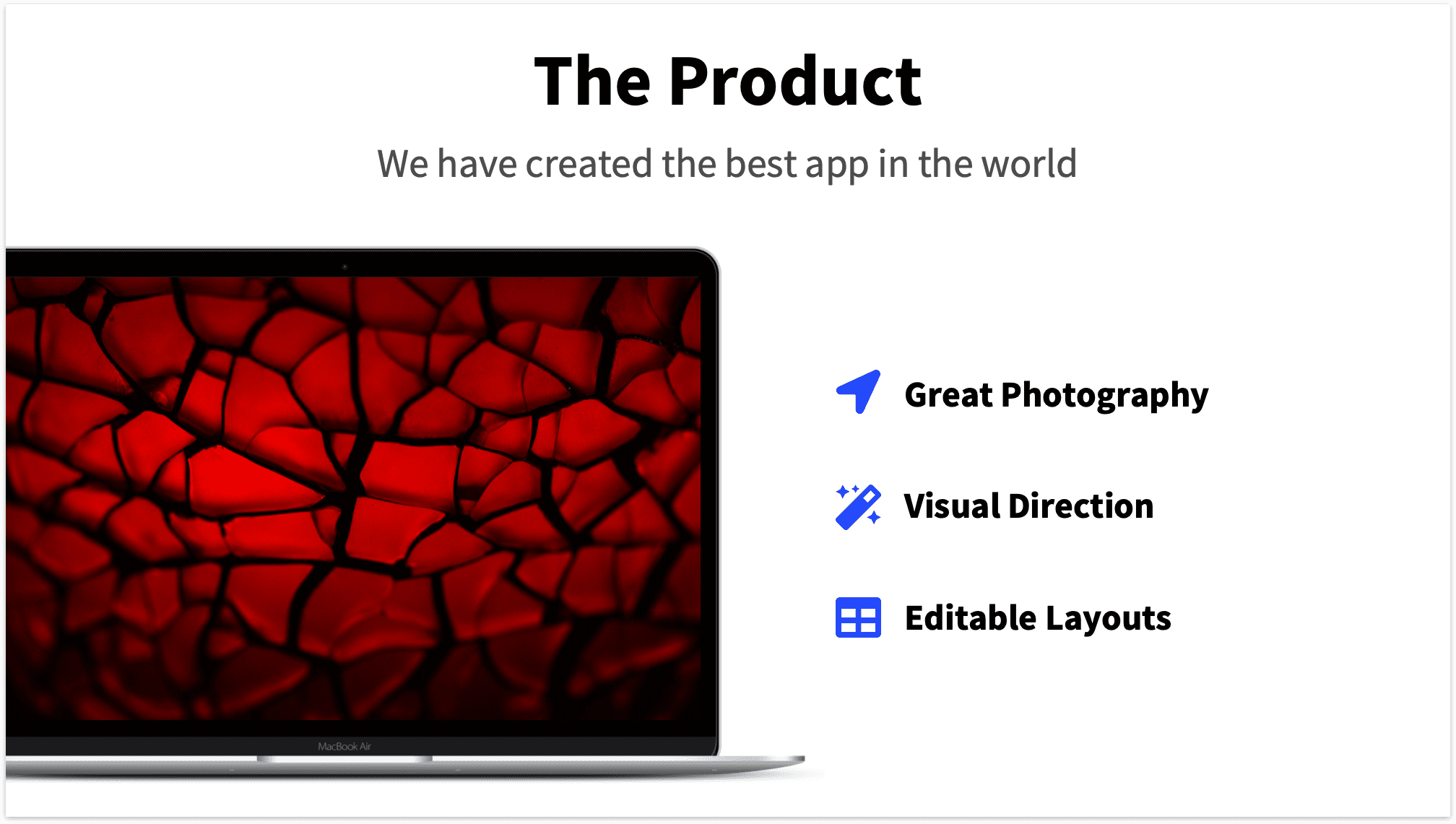 Product Slide Pitch Deck with Macbook Mockup