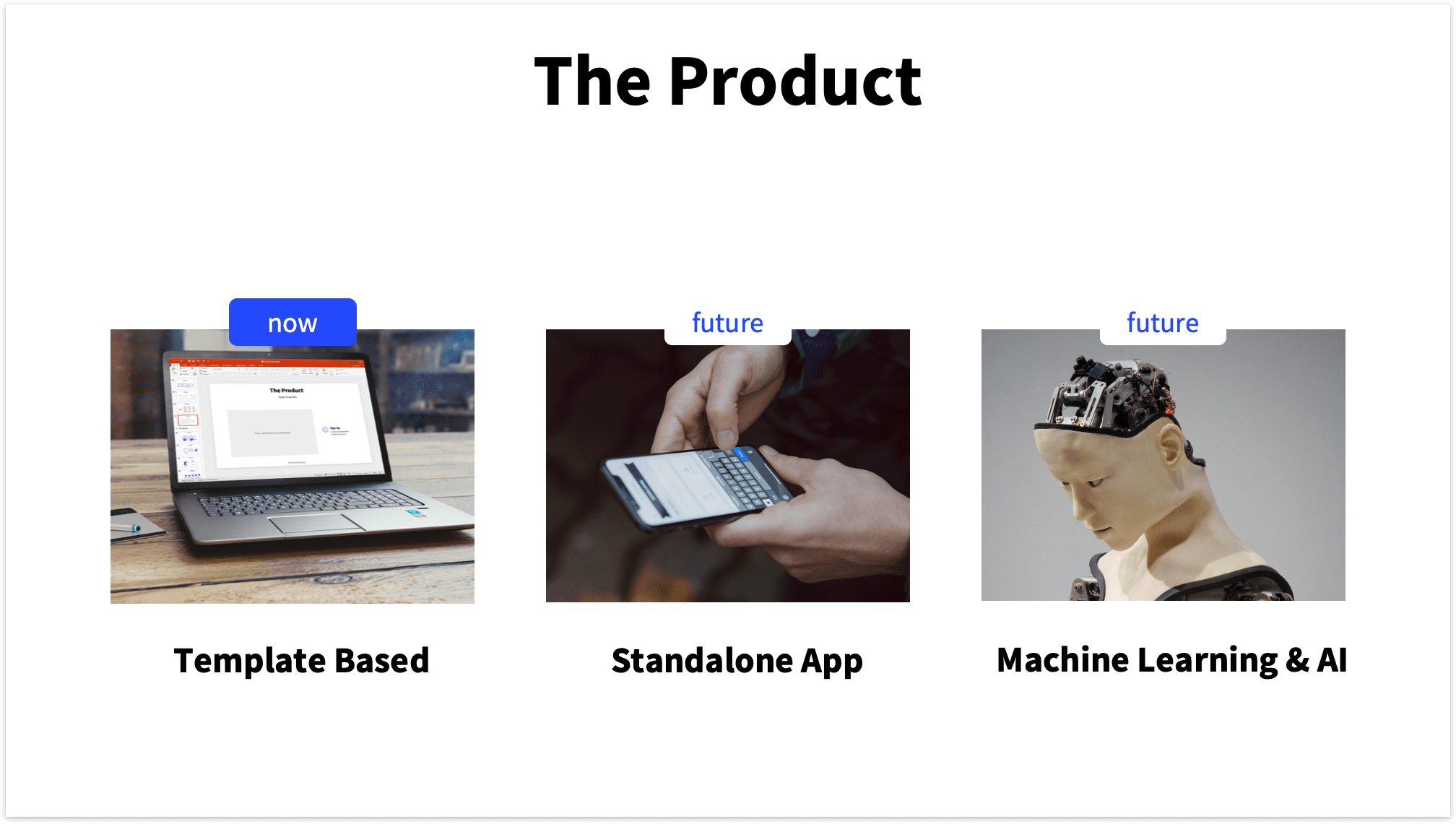 Pitch Deck Product Slide 3 Pictures