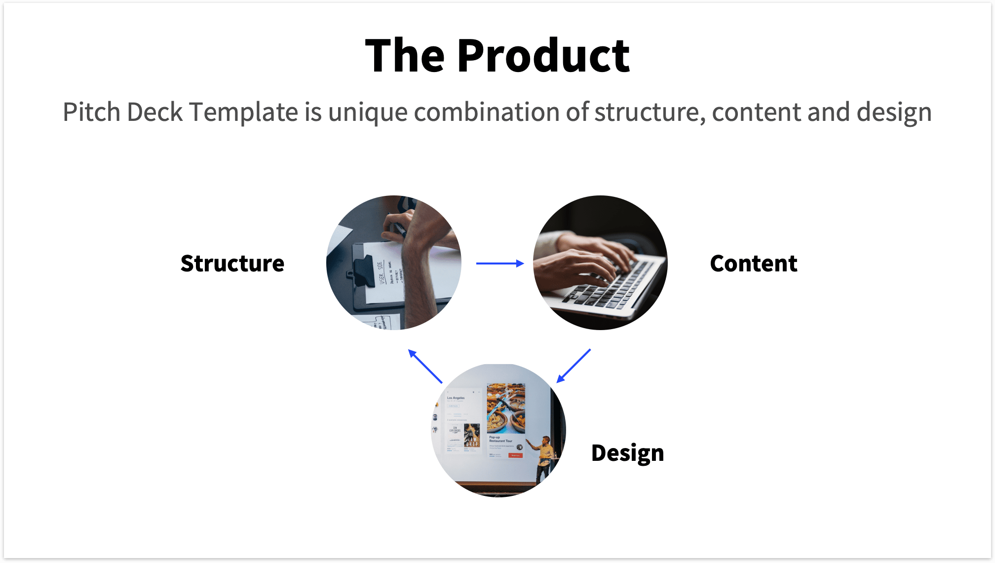 Infographic Pitch Deck Product Slide