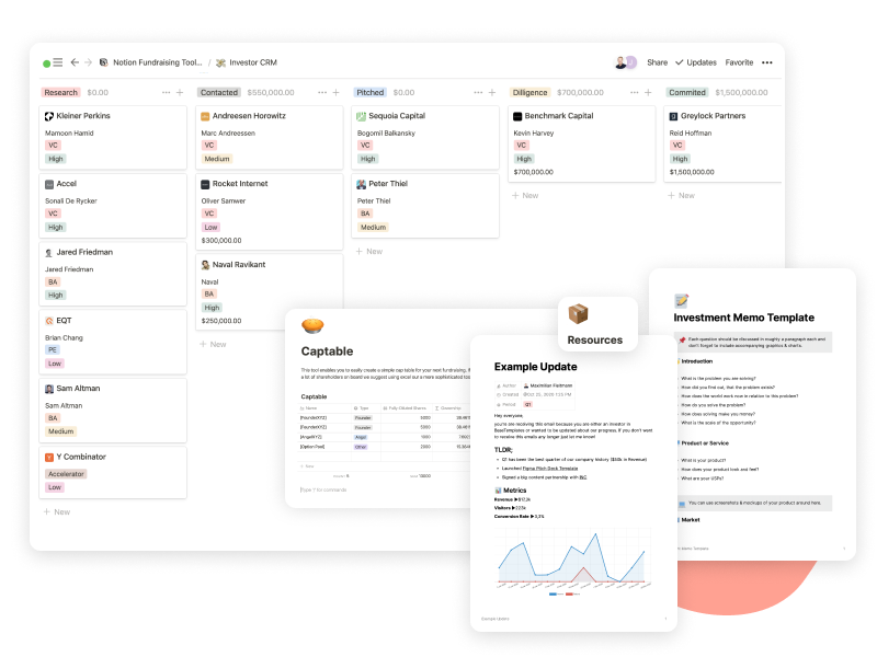Preview of Notion Investment Templates
