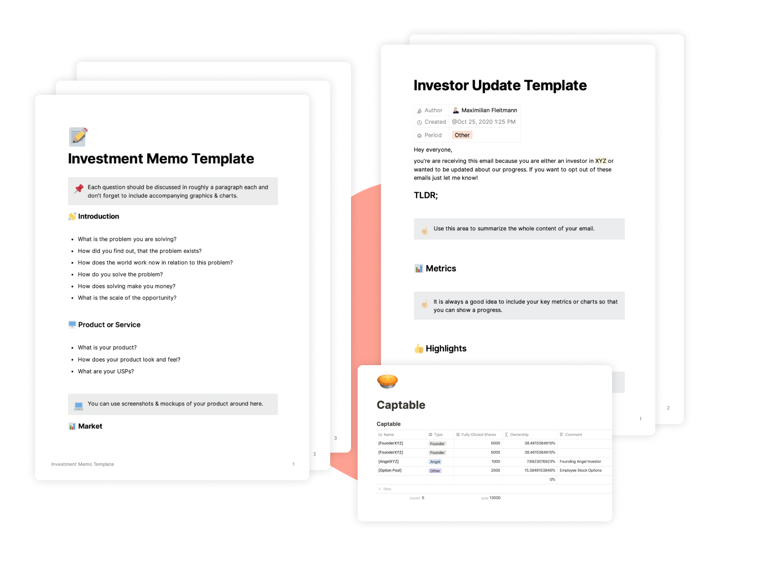 Investor Templates for Notion