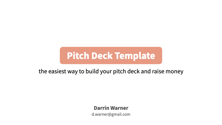 Salmon Pitch Deck Template 2021