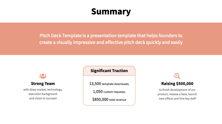 Salmon Pitch Deck Template - Reading Version