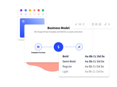 How to design a nice pitch deck slide