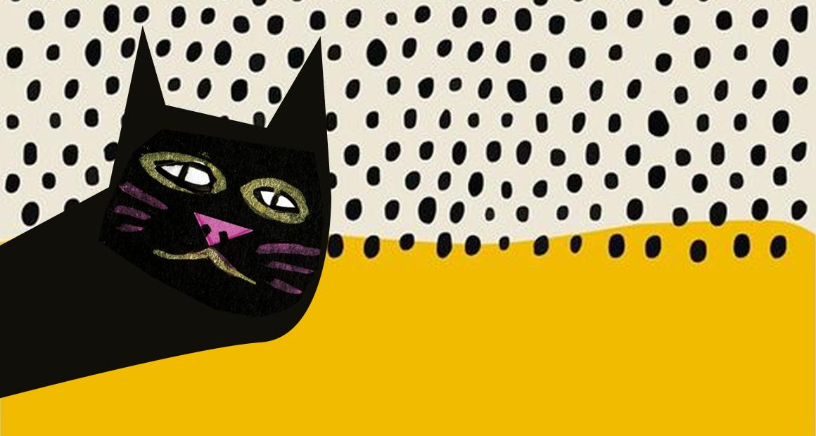 Ilustración de un gato para representar la curiosidad