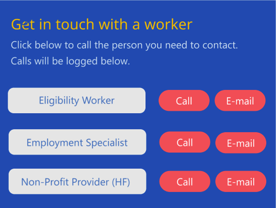 Worker contact and tracking