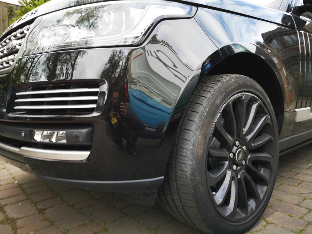 Range Rover Completed Bumper Scuff and Scratch Repair
