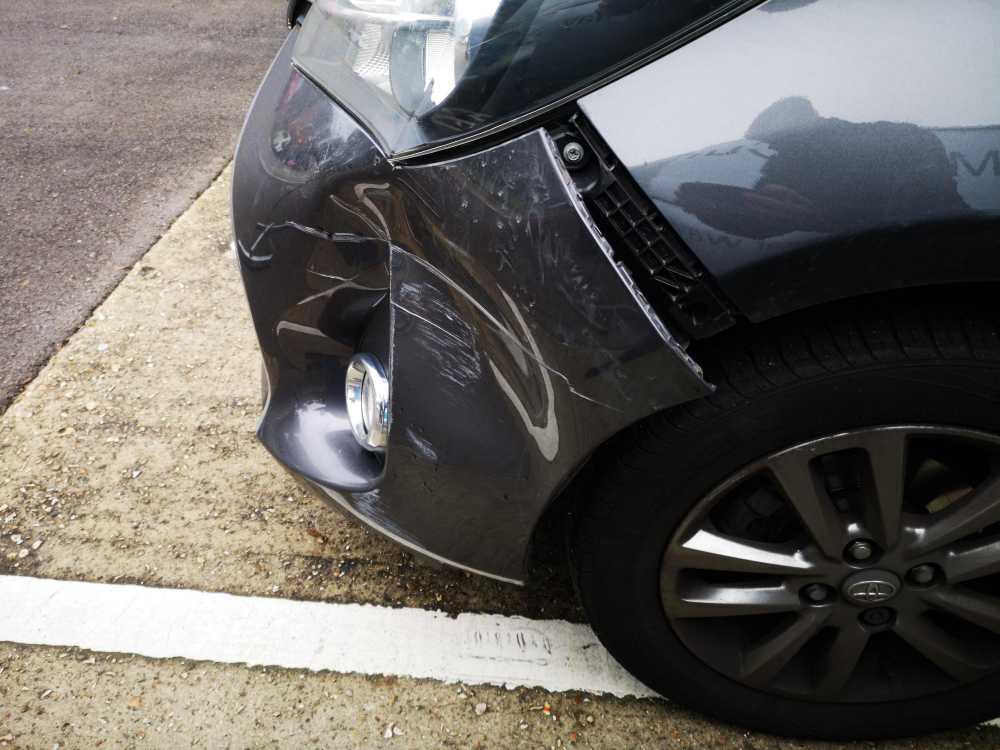 Toyota Bumper Dent