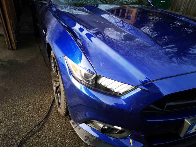 Mustang Bonnet Scratch Car Body Repair