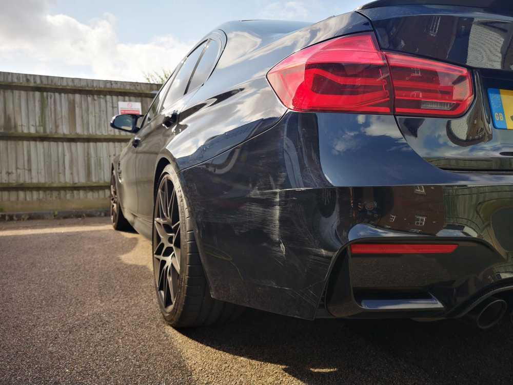 BMW M3 Bumper Scuff