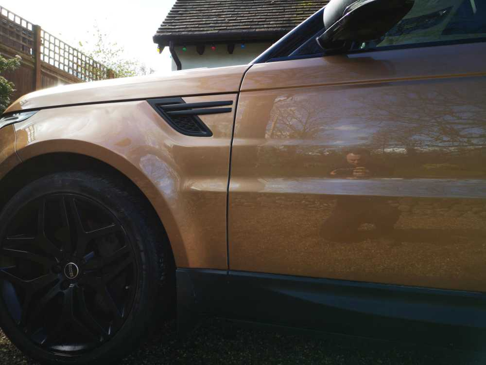 Range Rover Dent Repair Completed
