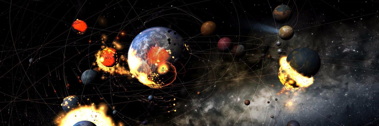 a colliding solar system