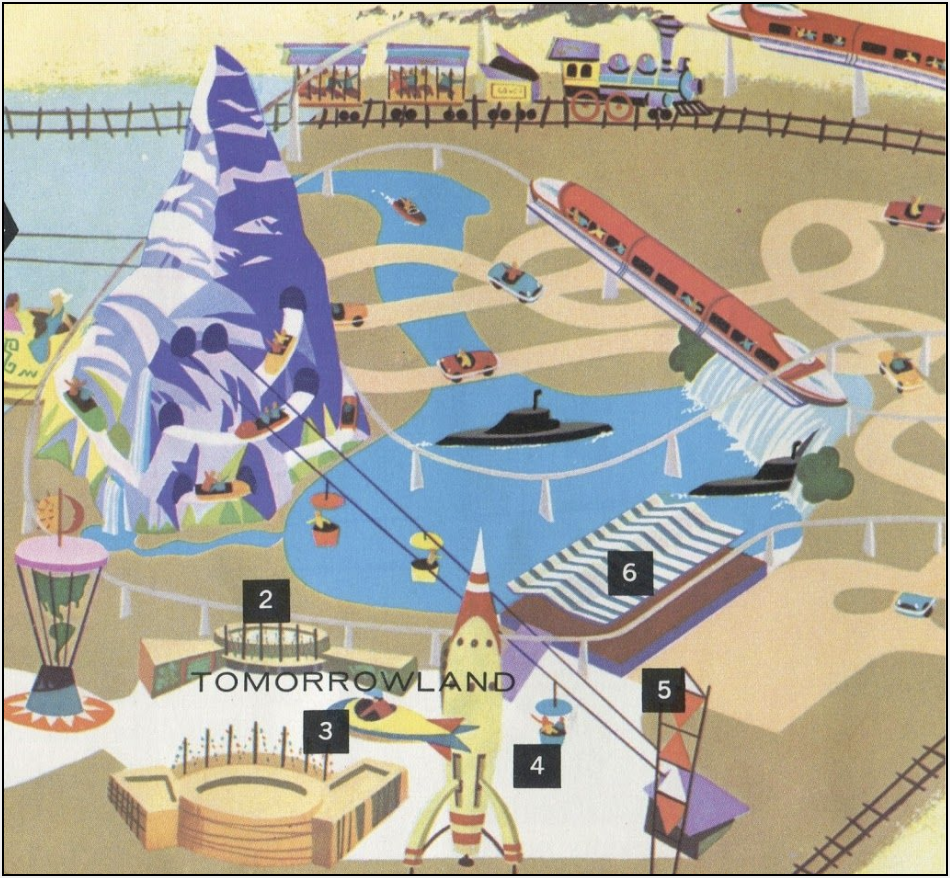 pictoral map of Disneyland