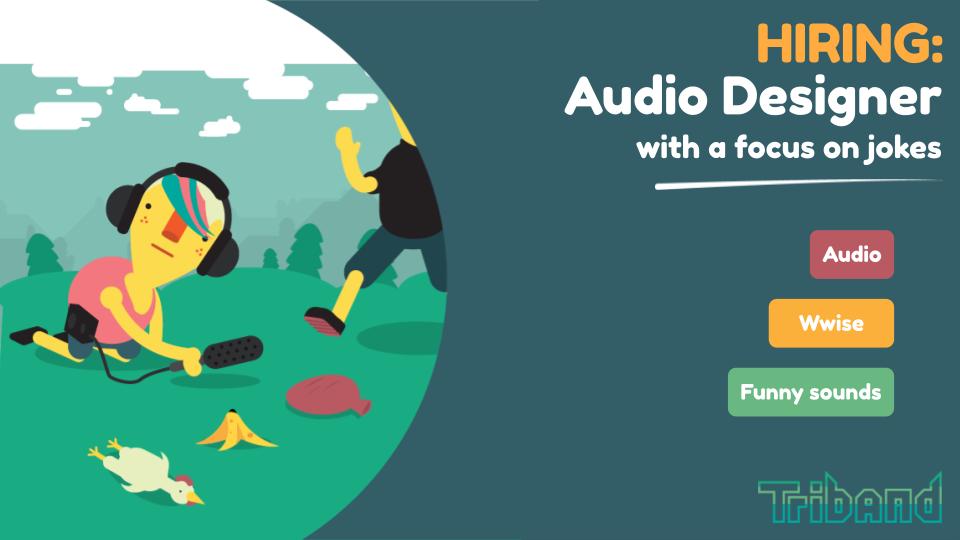 hiring: audio designer