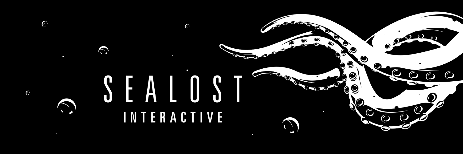 sealost interactive banner with tentacles