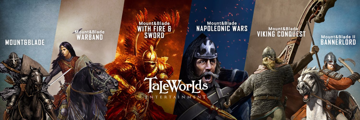 taleworlds banner featuring mount and blade franchise