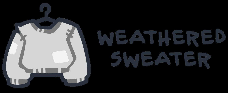 weathered sweater logo