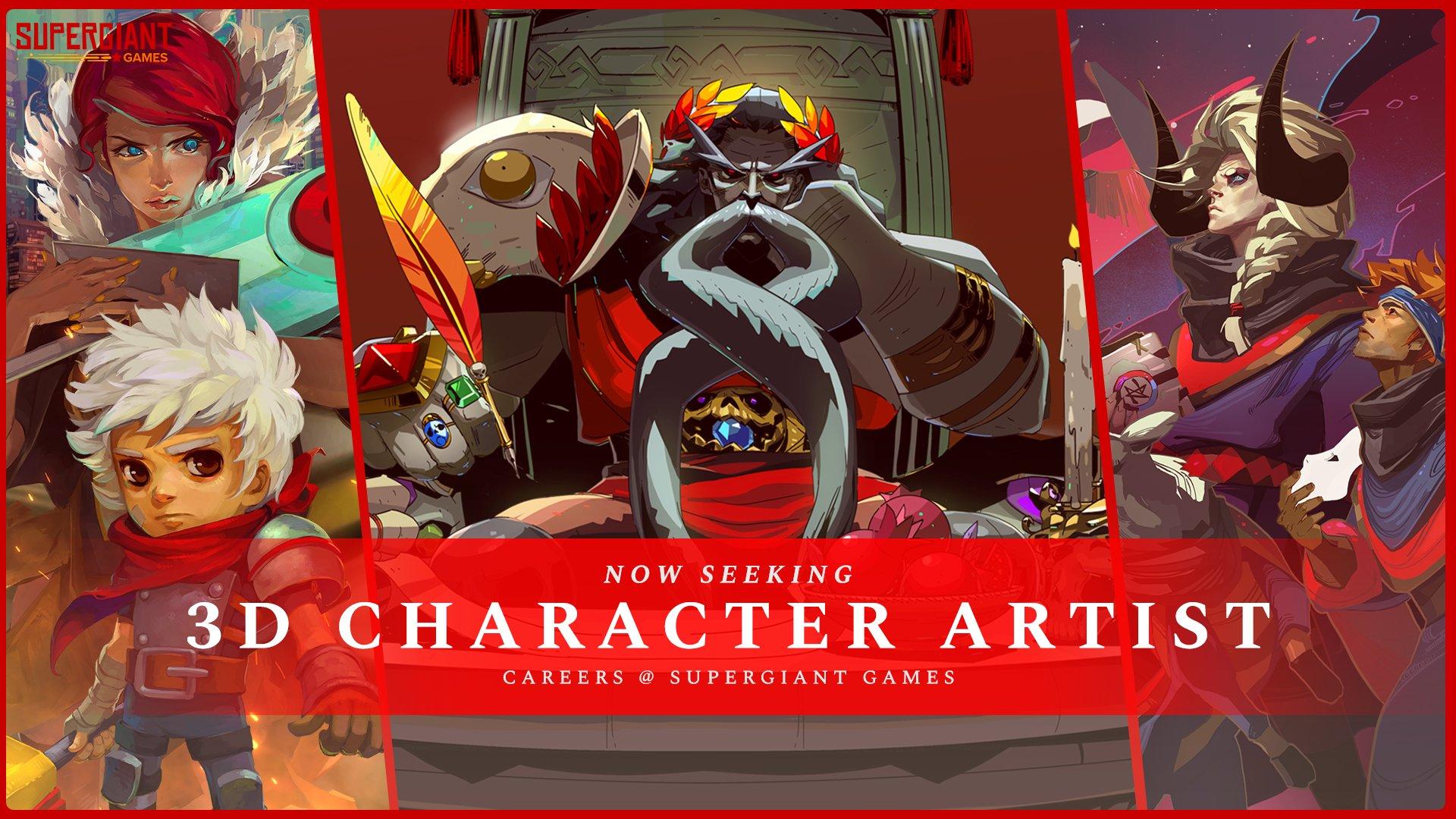 now seeking 3d character artist