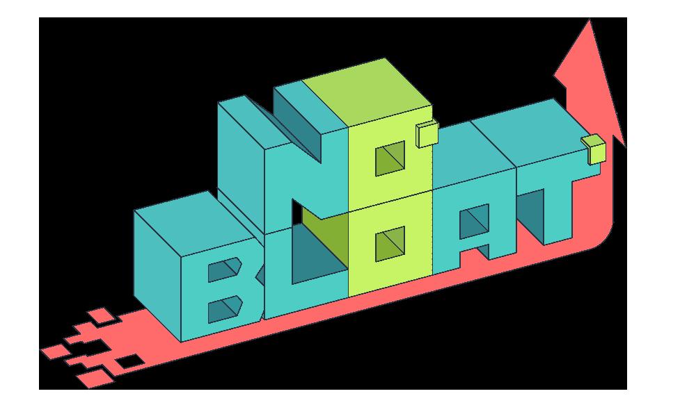 no bloat logo