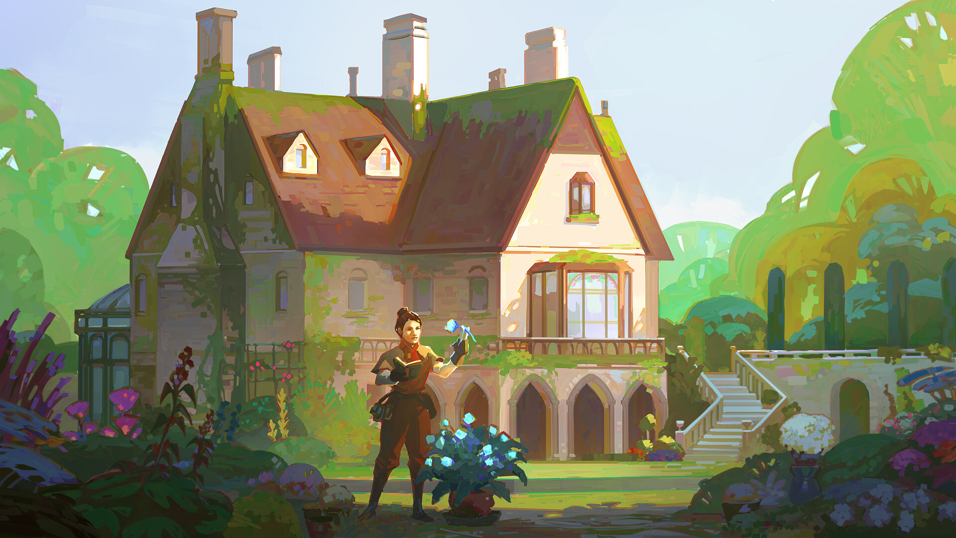 An illustration of Botany Manor concept art