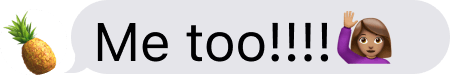A text bubble