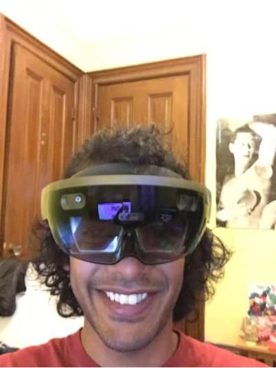 Rik wearing a VR headset
