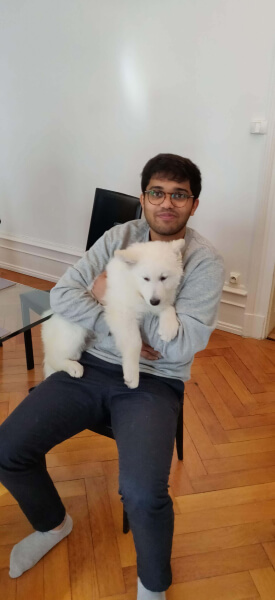 Varun with his dog