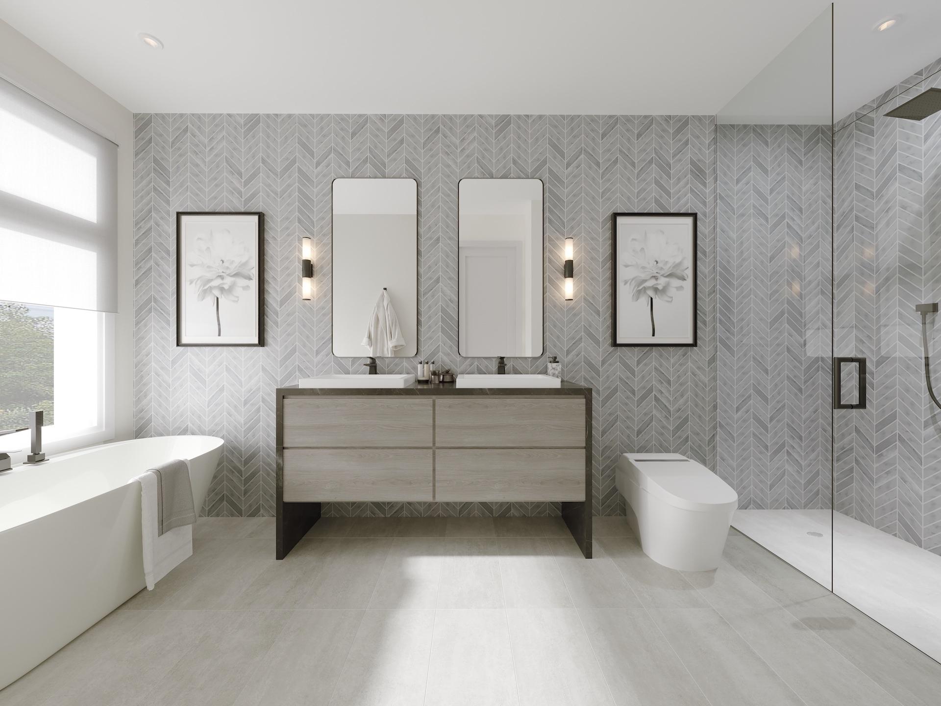 Acorn x NIICO bathroom rendering