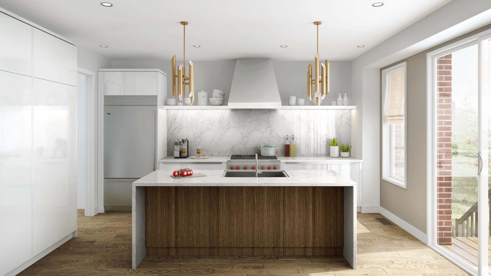 Acorn x NIICO Kitchen Rendering