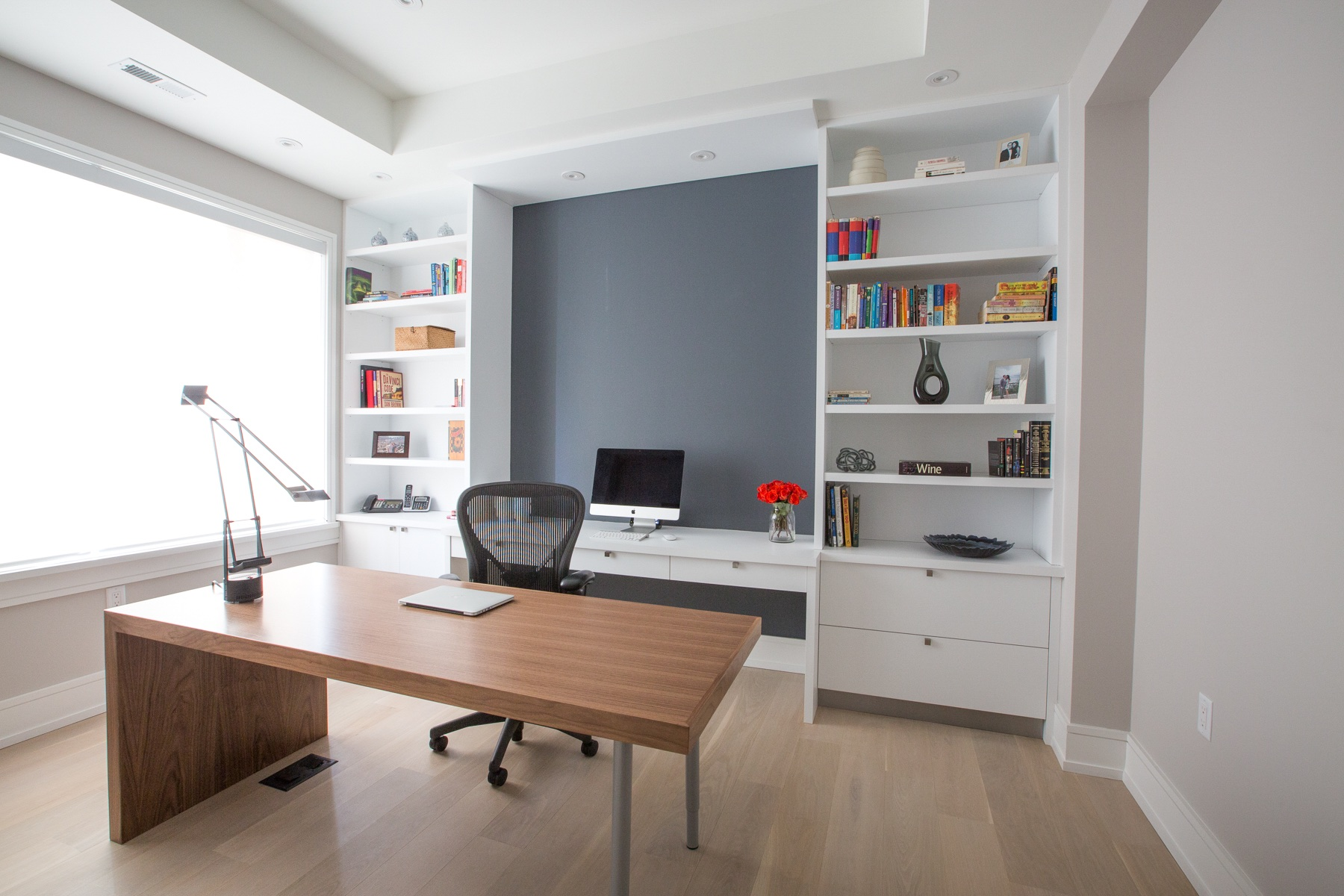 Wood Desk and office