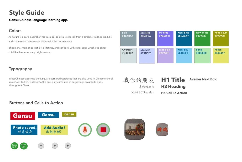 Gansu Style Guide