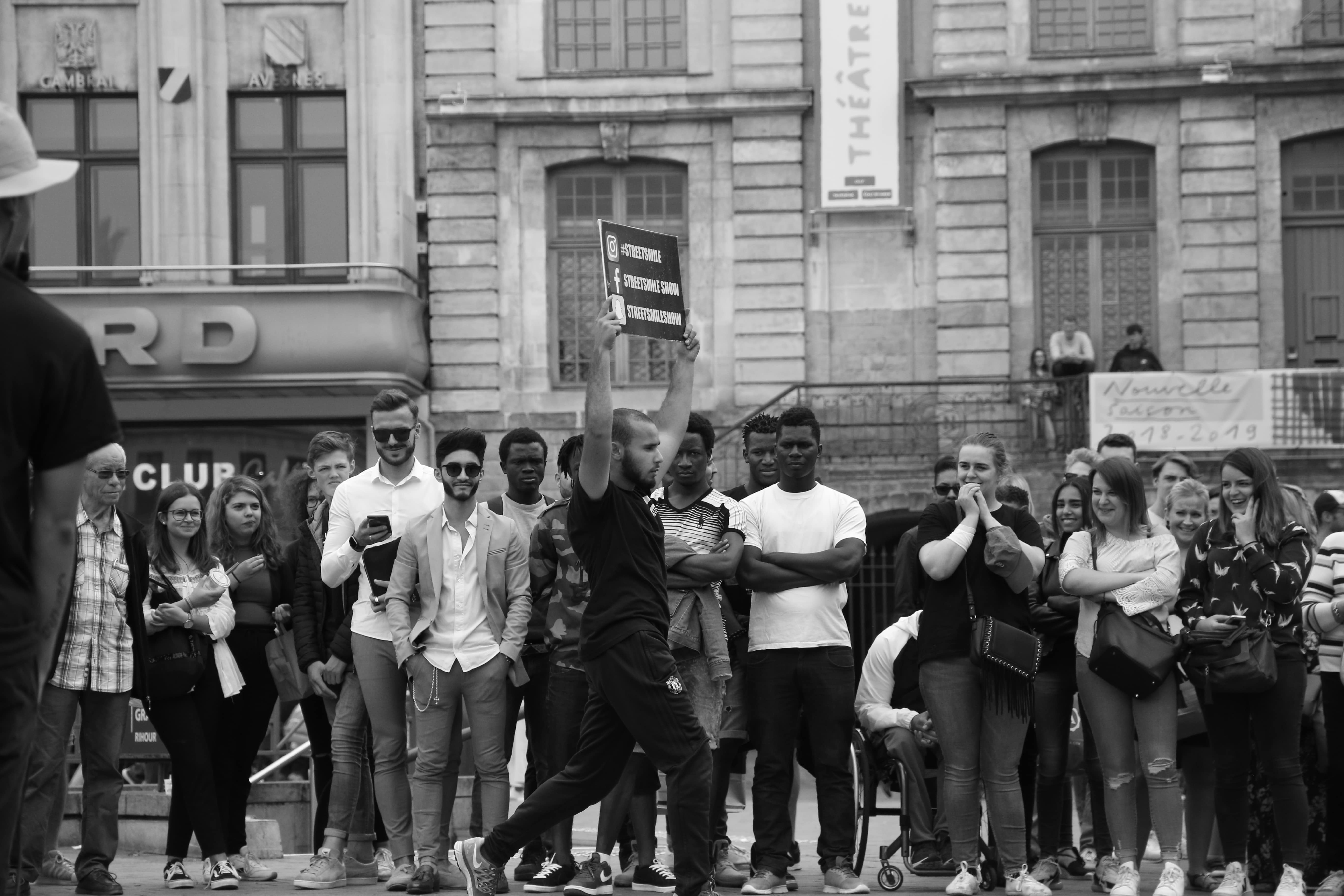hiphop show streetmarketing lancement produit- Streetsmile