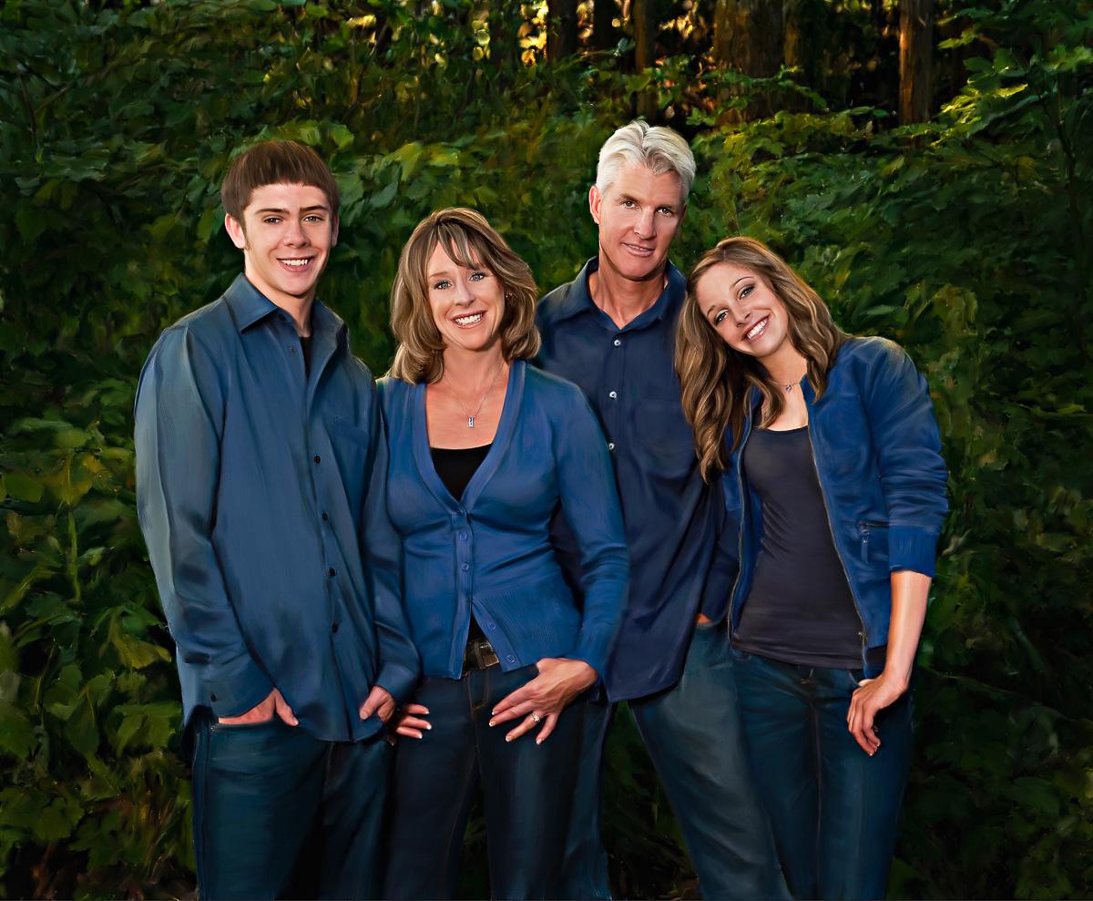 A Fine Art Portrait of a family outdoors