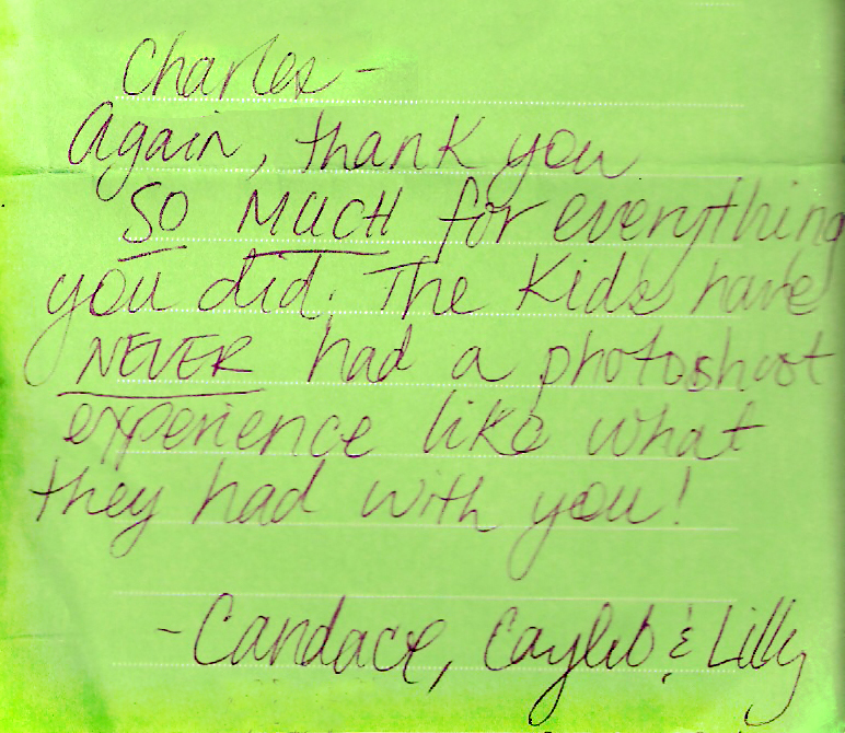A client thank you note